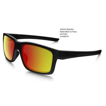 OAKLEY Mainlink Matte Black w/ Ruby Irid Polar OO9264-07
