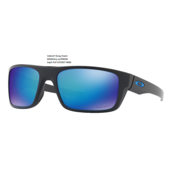OAKLEY Drop Point MttDkGry w/PRIZM Saph Pol OO9367-0660