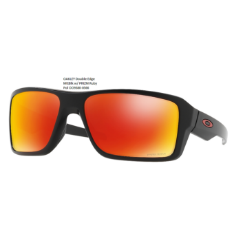 OAKLEY Double Edge MttBlk w/ PRIZM Ruby Pol