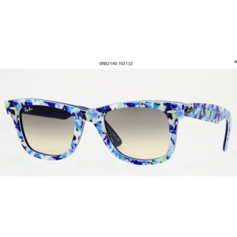 Ray-Ban RB2140 WAYFARER BLUE-GREEN FLOWERS BLUE 102132  Napszemüveg