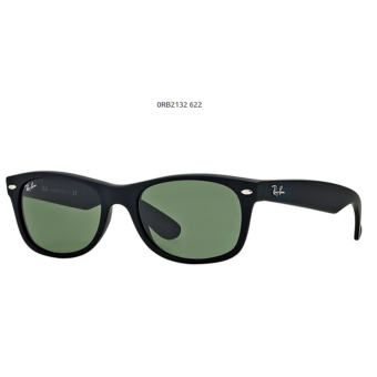 Ray-Ban RB2132 622  BLACK RUBBER New Wayfarer Napszemüveg