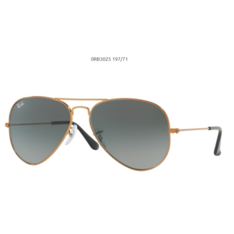 Ray-Ban RB3025 SHINY BRONZE 197/71 Aviator Napszemüveg