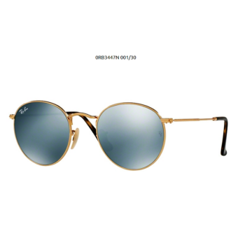 Ray-Ban RB3447N ROUND METAL 001/30 SHINY GOLD Napszemüveg