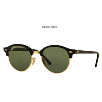 Ray-Ban RB4246 CLUBROUND 901/58 BLACK POL. Napszemüveg