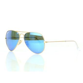 Ray-Ban RB3025 112/4L polarizált kék tükrös lencsés Aviator napszemüveg