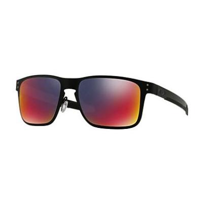 OAKLEY Holbrook Metal MATTE BLACK/+ red iridium  OO4123-02 Napszemüveg