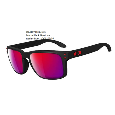 OAKLEY Holbrook Matte Black /Positive Red Iridium OO9102-36
