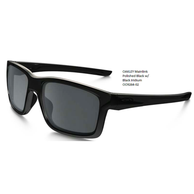 OAKLEY Mainlink Polished Black w/ Black Iridium OO9264-02