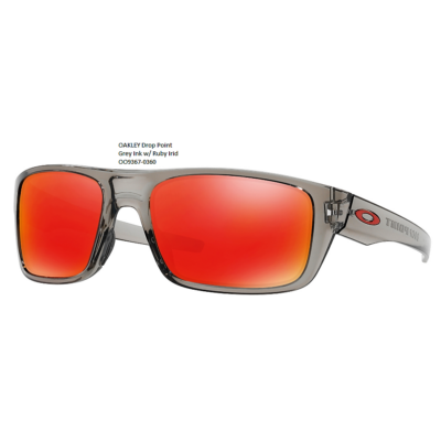 OAKLEY Drop Point Grey Ink w/ Ruby Irid OO9367-0360