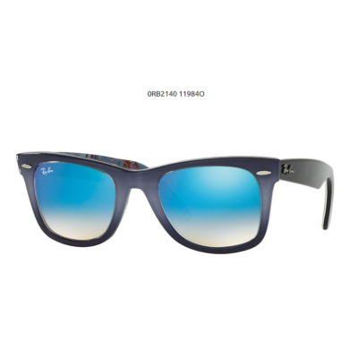 Ray-Ban RB2140 WAYFARER TOP GRAD GREY ON BLUE 119840 Napszemüveg