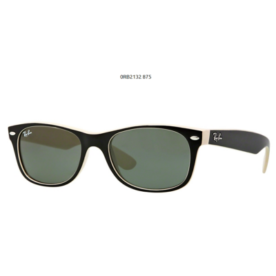 Ray-Ban RB2132 875 TOP BLACK ON BEIGE NEW WAYFARER Napszemüveg