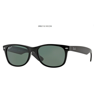 Ray-Ban RB2132 901/58 Pol.  BLACK New Wayfarer Napszemüveg