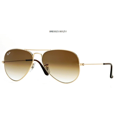Ray-Ban RB3025 GOLD  001/51 Aviator Napszemüveg