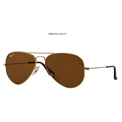Ray-Ban RB3025 GOLD 001/57 Aviator Napszemüveg