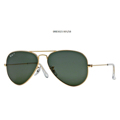 Ray-Ban RB3025 GOLD  POL.001/58 Aviator Napszemüveg