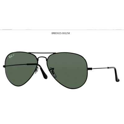 Ray-Ban RB3025 BLACK POL.002/58 Aviator Napszemüveg