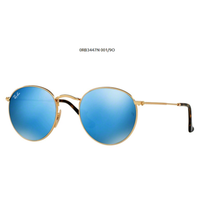 Ray-Ban RB3447N ROUND METAL 001/9O SHINY GOLD Napszemüveg