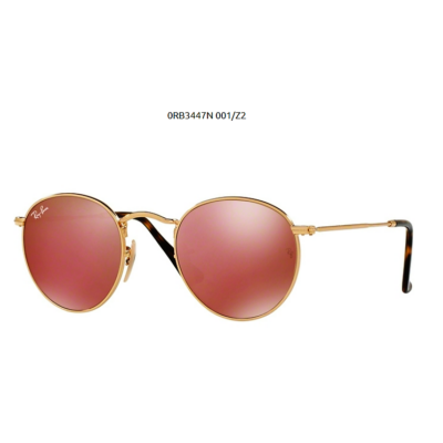 Ray-Ban RB3447N ROUND METAL 001/Z2 SHINY GOLD Napszemüveg