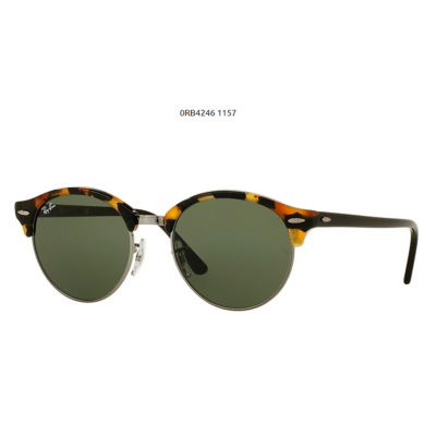 Ray-Ban RB4246 CLUBROUND 1157 SPOTTED BLACK HAVANA Napszemüveg