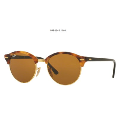 Ray-Ban RB4246 CLUBROUND 1160 SPOTTED BROWN HAVANA Napszemüveg