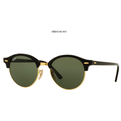 Ray-Ban RB4246 CLUBROUND 901 BLACK Napszemüveg