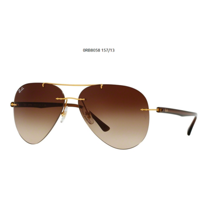 Ray-Ban RB8058 157/13 BRUSHED GOLD  Napszemüveg