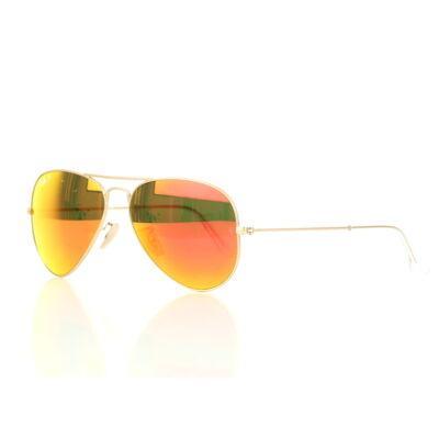 Ray-Ban RB3025 112/4D polarizált narancs tükrös lencsés Aviator napszemüveg
