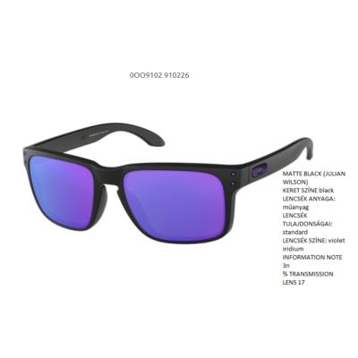 Oakley Holbrook MATTE BLACK (JULIAN WILSON)/violet iridium OO9102-26 Napszemüveg