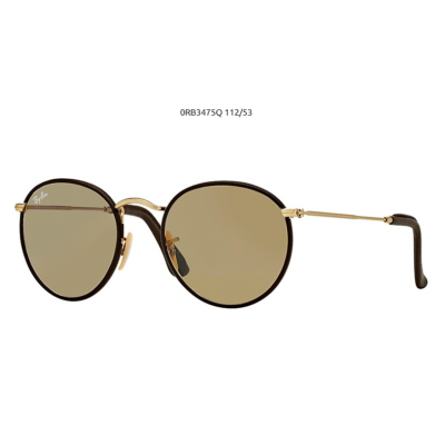 Ray-Ban RB3475Q 112/53 MATTE ARISTA/BROWN LEATHER Napszemüveg