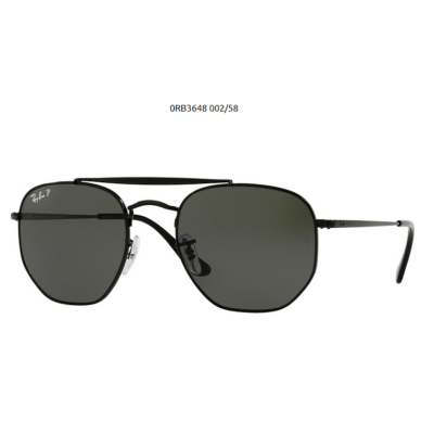 Ray-Ban RB3648 THE MARSHAL 002/58 BLACK Napszemüveg