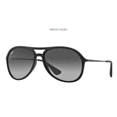 Ray-Ban RB4201 ALEX 622 8G RUBBER BLACK Napszemüveg
