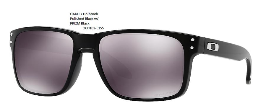 Férfi OAKLEY Holbrook Polished Black w/ PRIZM Black OO9102-E155