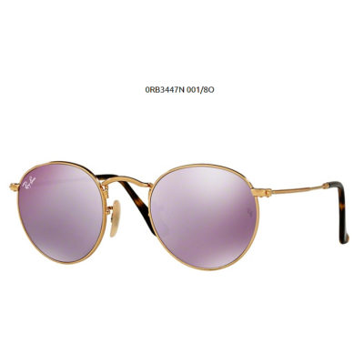 Ray-Ban RB3447N ROUND METAL 001/8O SHINY GOLD Napszemüveg