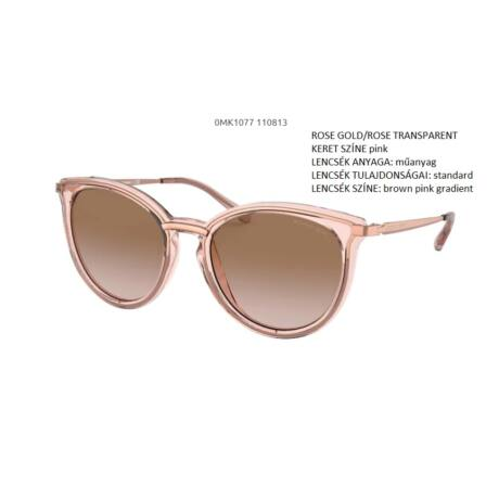 MICHAEL KORS BRISBANE MK1077 110813 ROSE GOLD/ROSE TRANSPARENT NAPSZEMÜVEG
