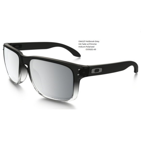 OAKLEY Holbrook Grey Ink Fade w/Chrome Iridium Polarized OO9102-A9