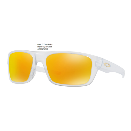 OAKLEY Drop Point MttClr w/ Fire Irid OO9367-0560