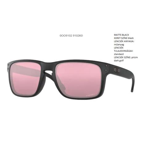 OAKLEY HOLBROOK MATTE BLACK/prizm dark golf OO9102-K0 Napszemüveg