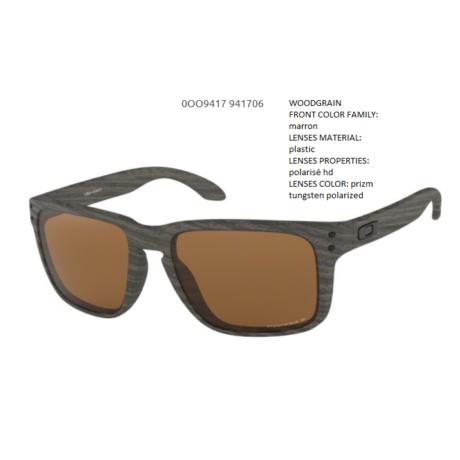 OAKLEY Holbrook XL WOODGRAIN/prizm tungsten polarized OO9417-06 Napszemüveg