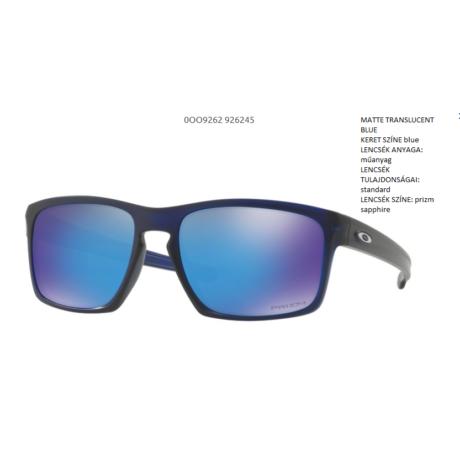 Oakley Sliver MATTE TRANSLUCENT BLUE/prizm sapphire OO9262-45 Napszemüveg