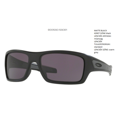 OAKLEY OO9263-01 TURBINE MATTE BLACK/warm grey Napszemüveg