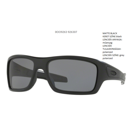 OAKLEY OO9263-07 TURBINE MATTE BLACK/ grey polarized Napszemüveg