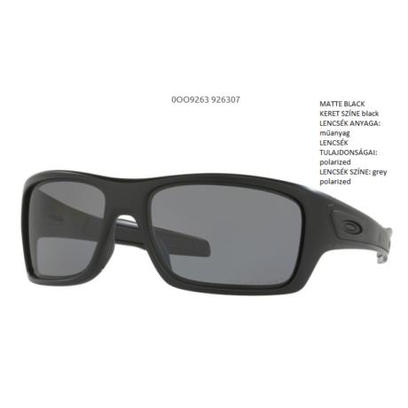 OAKLEY OO9263-07 TURBINE MATTE BLACK/ grey polarized Napszemüveg