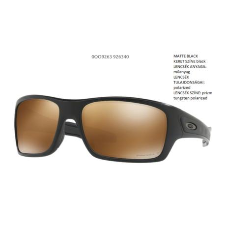 OAKLEY OO9263-40 TURBINE MATTE BLACK/prizm tungsten polarized Napszemüveg