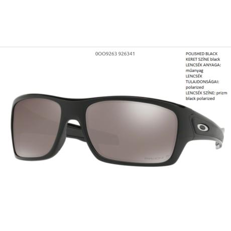 OAKLEY OO9263-41 TURBINE POLISHED BLACK/prizm black polarized Napszemüveg