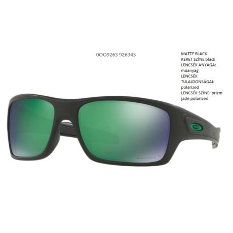 OAKLEY OO9263-45 TURBINE MATTE BLACK/prizm jade polarized Napszemüveg