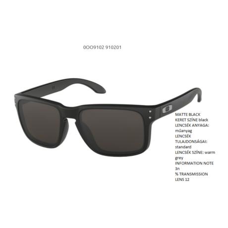 Oakley Holbrook MATTE BLACK/ warm grey OO9102-01 Napszemüveg