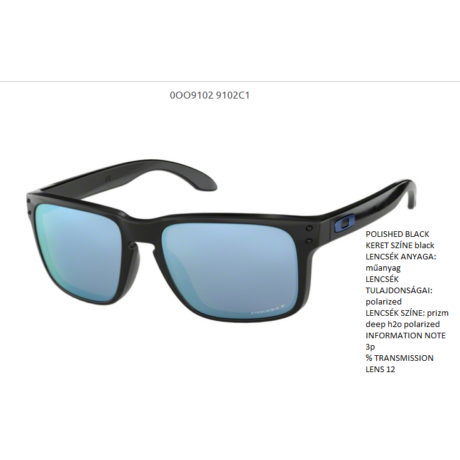 Oakley Holbrook POLISHED BLACK/prizm deep h2o polarized OO9102-C1 Napszemüveg