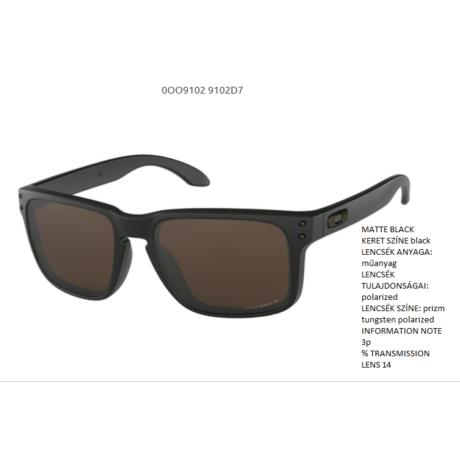 Oakley Holbrook MATTE BLACK/prizm tungsten polarized OO9102-D7 Napszemüveg