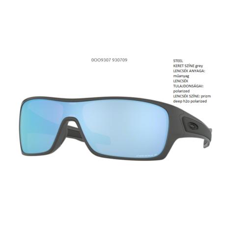 OAKLEY OO9307-09 TURBINE ROTOR STEEL/prizm deep h2o polarized Napszemüveg
