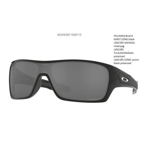 OAKLEY OO9307-15 TURBINE ROTOR POLISHED BLACK/prizm black polarized Napszemüveg
